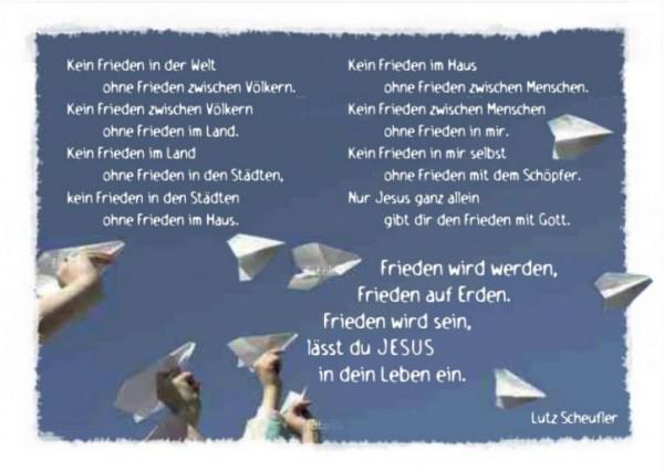 Frieden wird werden (Postkarte)
