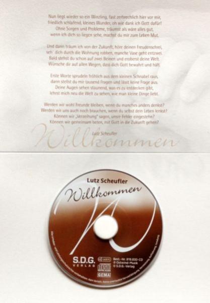 Willkommen - Klappkarte mit Mini-Musik-CD
